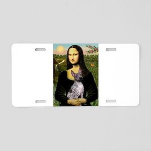 MonaLisa - AmHairless T. Aluminum License Plate