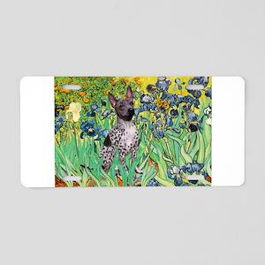 Irises-Am.Hairless T Aluminum License Plate
