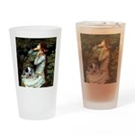 Ophelia - Aussie Cattle Pup Drinking Glass