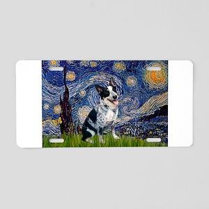 Starry-AussieCattlePup2 Aluminum License Plate