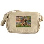 Lilies2-Aussie Shep (#4) Messenger Bag