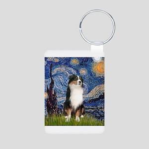 Starry - Tri Aussie Shep2 Aluminum Photo Keychain