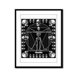 Leonardo da skull Framed Panel Print