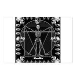 Leonardo da skull Postcards (Package of 8)