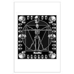 Leonardo da skull Large Poster