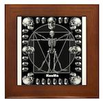 Leonardo da skull Framed Tile
