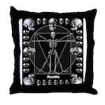 Leonardo da skull Throw Pillow