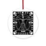 Leonardo da skull Ornament (Round)