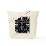 Leonardo da skull Tote Bag