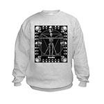 Leonardo da skull Kids Sweatshirt