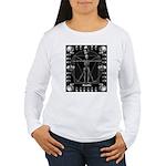 Leonardo da skull Women's Long Sleeve T-Shirt
