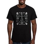 Leonardo da skull Men's Fitted T-Shirt (dark)