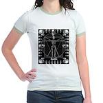 Leonardo da skull Jr. Ringer T-Shirt
