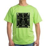 Leonardo da skull Green T-Shirt