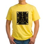 Leonardo da skull Yellow T-Shirt