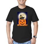 Trick or Treat Halloween Men's Fitted T-Shirt (dar