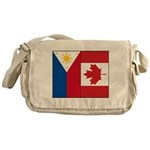 PI Flag & Canada Flag Messenger Bag