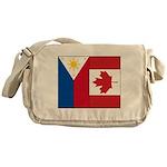 PI Flag & Canada Flag Messenger Bag
