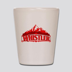 Whistler Red Mountain Shot Glass