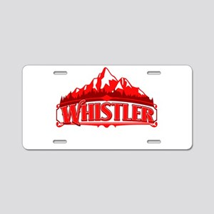 Whistler Red Mountain Aluminum License Plate