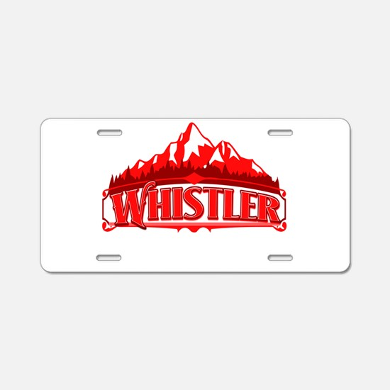 Whistler Red Mountain Aluminum License Plate