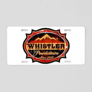 Whistler Powdertown Aluminum License Plate