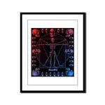 Leonardo da skull 2 Framed Panel Print