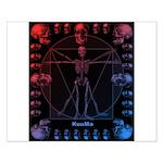 Leonardo da skull 2 Small Poster