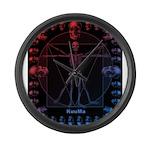 Leonardo da skull 2 Large Wall Clock