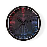 Leonardo da skull 2 Wall Clock