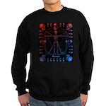 Leonardo da skull 2 Sweatshirt (dark)