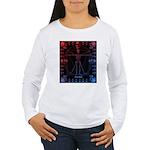 Leonardo da skull 2 Women's Long Sleeve T-Shirt
