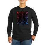 Leonardo da skull 2 Long Sleeve Dark T-Shirt