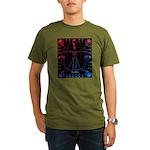 Leonardo da skull 2 Organic Men's T-Shirt (dark)