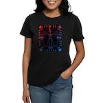 Leonardo da skull 2 Women's Dark T-Shirt