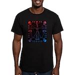 Leonardo da skull 2 Men's Fitted T-Shirt (dark)