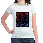 Leonardo da skull 2 Jr. Ringer T-Shirt