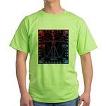 Leonardo da skull 2 Green T-Shirt