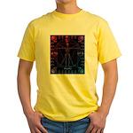 Leonardo da skull 2 Yellow T-Shirt