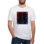 Leonardo da skull 2 Fitted T-Shirt