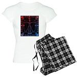 Leonardo da skull 2 Women's Light Pajamas