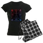Leonardo da skull 2 Women's Dark Pajamas
