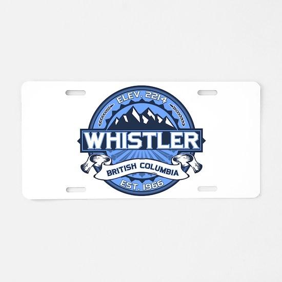 Whistler Blue Aluminum License Plate