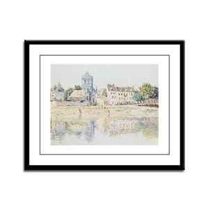 BY THE RIVER AT VERNON Framed Panel Print