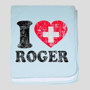 I Heart Roger Grunge baby blanket