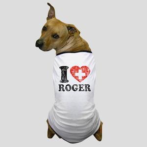 I Heart Roger Grunge Dog T-Shirt