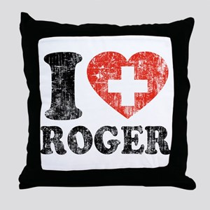 I Heart Roger Grunge Throw Pillow