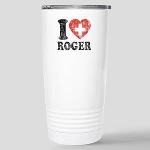 I Heart Roger Grunge Stainless Steel Travel Mug