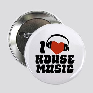 "I Love House Music 2.25"" Button"