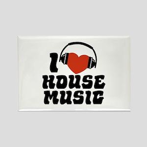 I Love House Music Rectangle Magnet